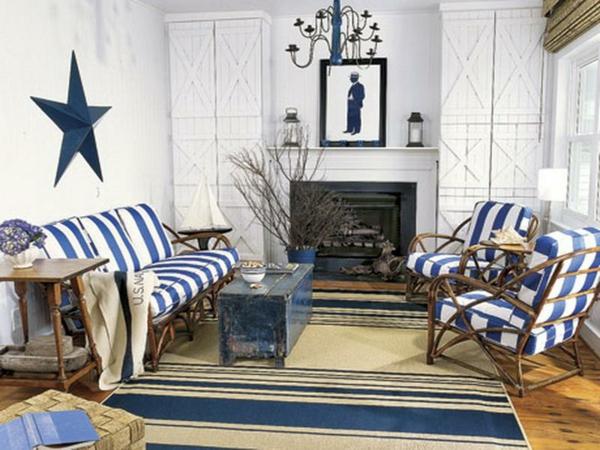 nautisches-design-wohnzimmer-blau-weiß