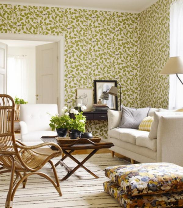 orientalische-sitzkissen-schön-aussehen-olivgrüne tapeten