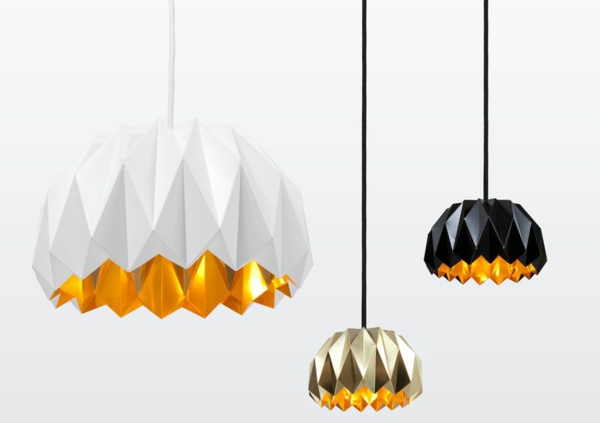 origami-lampenschirm-bettmen-style-schwarz-und-weiss