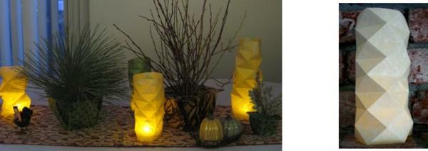 origami-lampenschirm-grün-und-gelb-neben-den-pflanzen