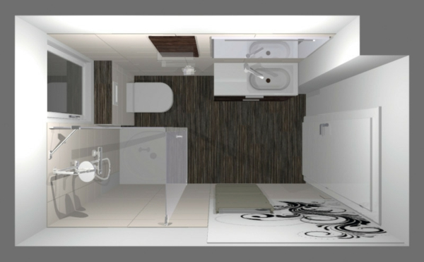 Badideen-für-kleines-bad-mit-Duschkabine-foto-von-oben