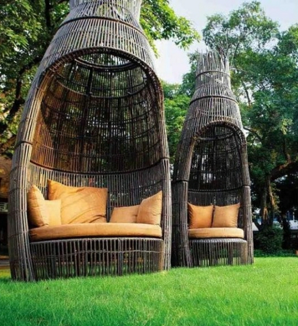 30 wundersch ne vorschl ge f r outdoor rattanm bel. Black Bedroom Furniture Sets. Home Design Ideas