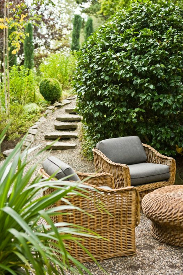 30 wundersch ne vorschl ge f r outdoor rattanm bel. Black Bedroom Furniture Sets. Home Design Ideas