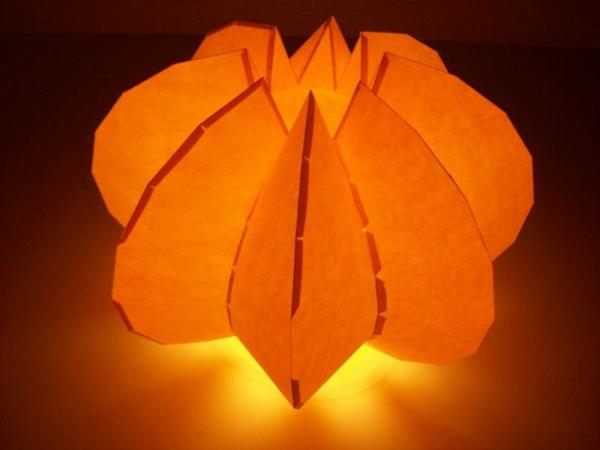 papier-lampen-modelle-orange farbe