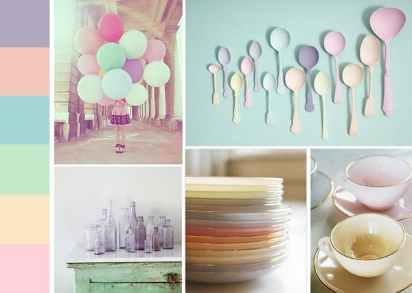 Pastell Wandfarben Gegenstände