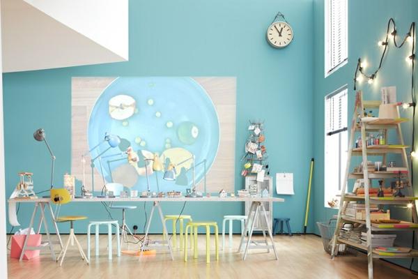wohnzimmer pastell:Pastell Wandfarben im Office oder Wohnzimmer – schöne Umgebung