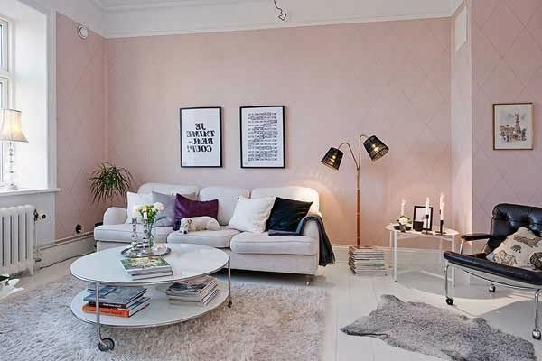 wohnzimmer rosa weiß:Wohnzimmertapete – neue Vorschläge für jeden Geschmack!