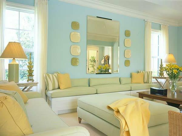 schöne-pastellfarben-himmelblau-grün-gelb-wandfarben-beispiele