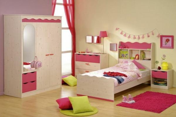 rosa-beige-grün-im-kinderzimmer-schöne-kombination