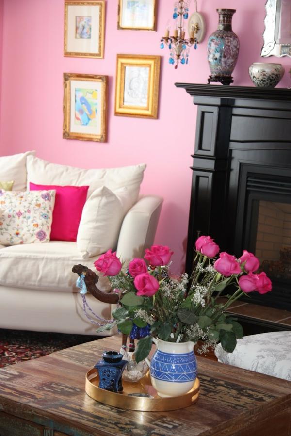 Mit Farben Einrichten Rosa Farbe F 1 4 R Eine Welt