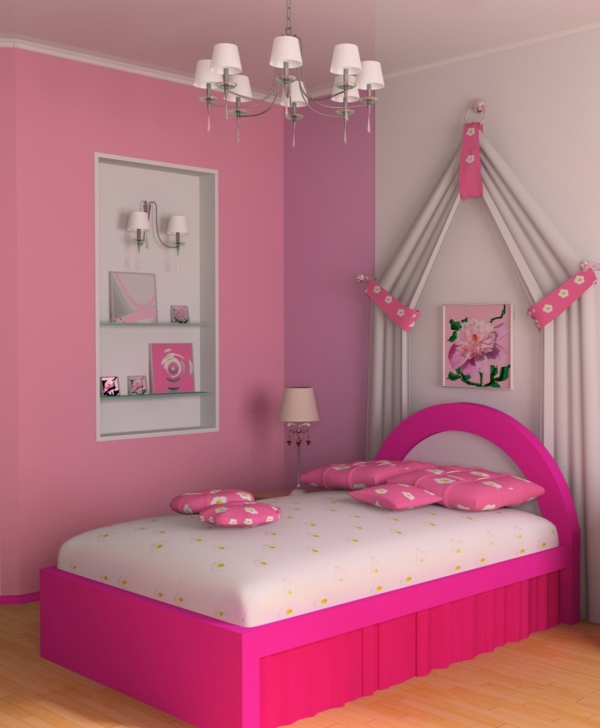 rosa-farbe-cute-kinderzimmer-bett