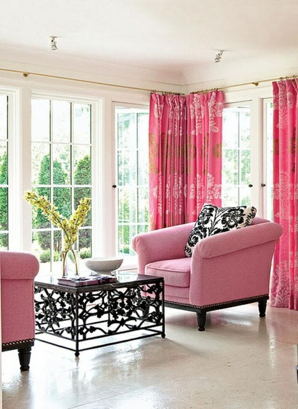 rosa-farbe-gardinen