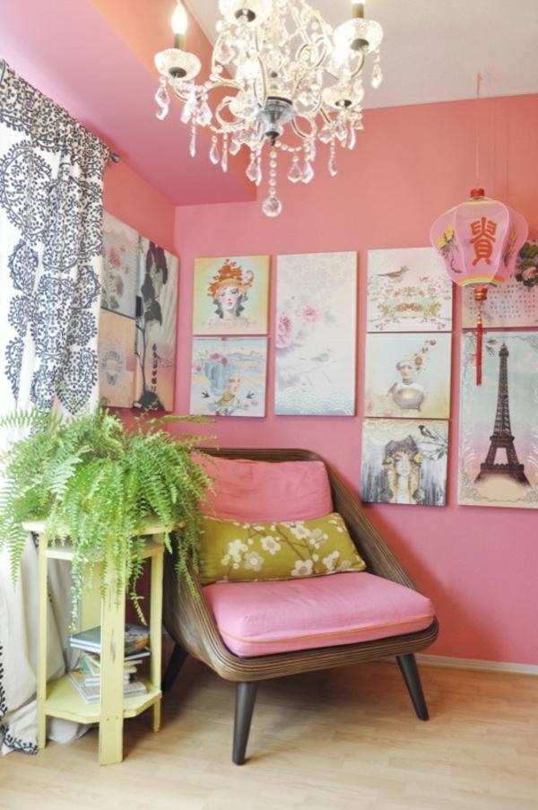 wohnzimmer in rosa. Black Bedroom Furniture Sets. Home Design Ideas