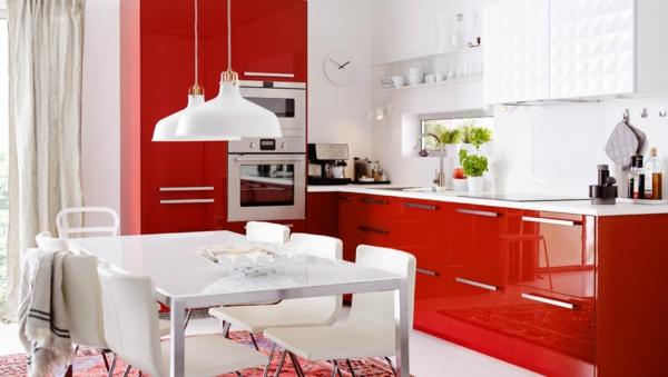 rote-farbe-küche
