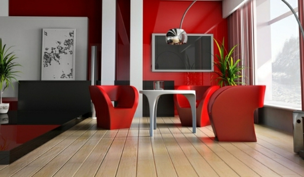 rote-farbe-sofas