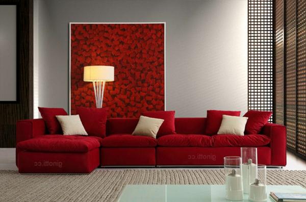 wohnzimmer rote wand:Einrichten mit Farben: Rote Farbe – Energie und Leidenschaft zu Hause!