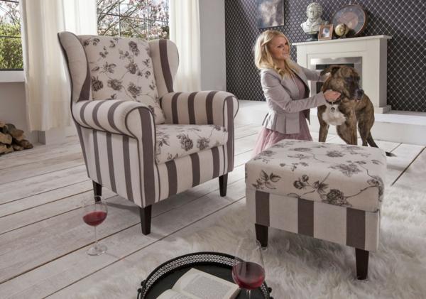 ohrensessel mit hocker 22 elegante designs. Black Bedroom Furniture Sets. Home Design Ideas