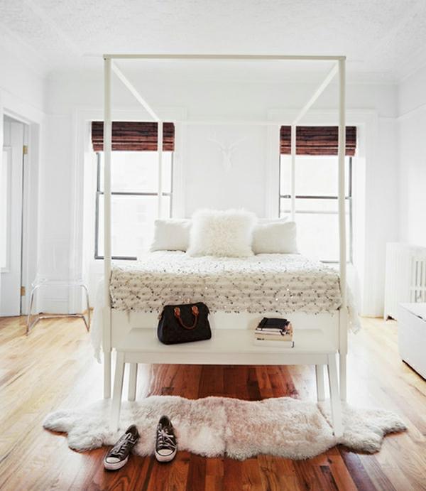 schönes-skandinavisches-schlafzimmer-einrichten-weiße gestaltung