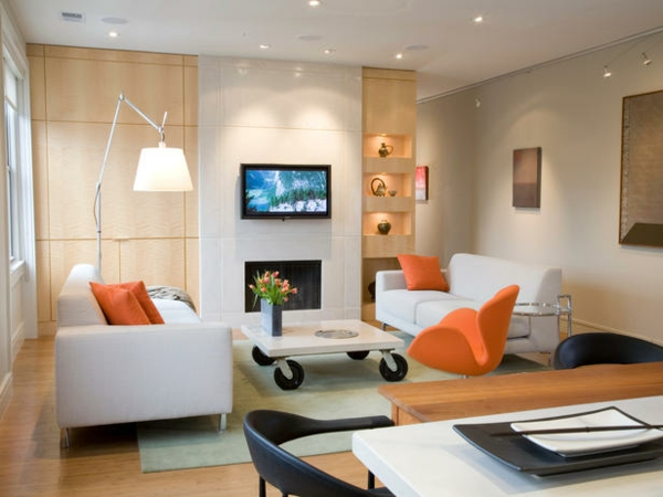 schönes-wohnzimmer-mit-beleuchtung-nesttisch auf rollen