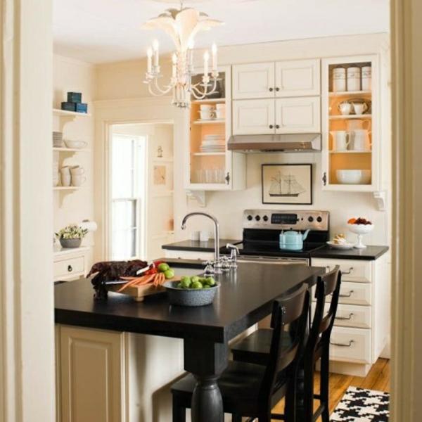 Tolle Design Ideen Kleine Kompakte Küche Praktische Küchenlösungen Für ...
