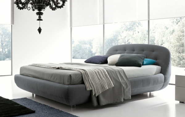 de.pumpink.com   schlafzimmer günstig einrichten - Schlafzimmer Bett Grau