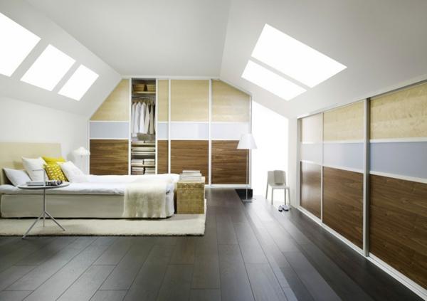 schlafzimmer-in-braun-grau-cremenweiß-fürs-Dachgeschoss
