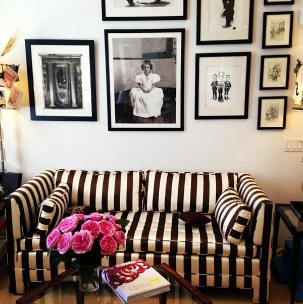 schwarz-weiß-in-streifen-sofa-vintage