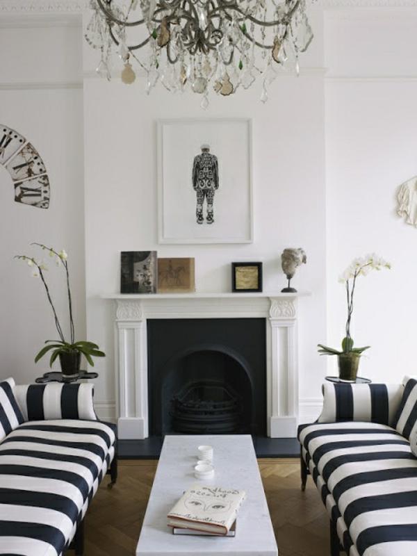 schwarz wei in streifen der kontrast der immer im trend ist. Black Bedroom Furniture Sets. Home Design Ideas