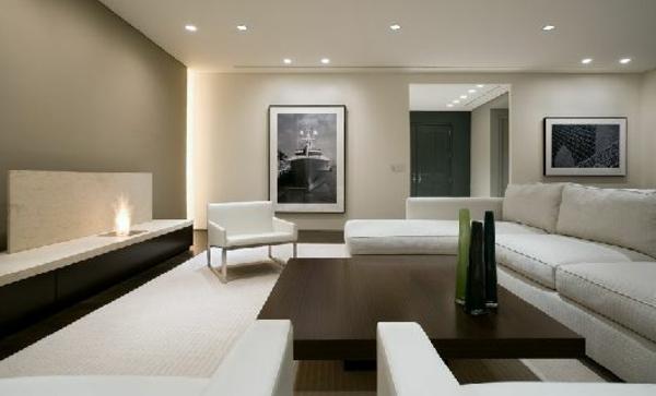 sehr-originelle-beleuchtungsideen-für-wohnzimmer-gestaltung in weiß