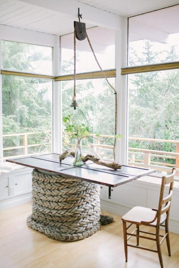 30 nautische ideen mit seil dekoration. Black Bedroom Furniture Sets. Home Design Ideas