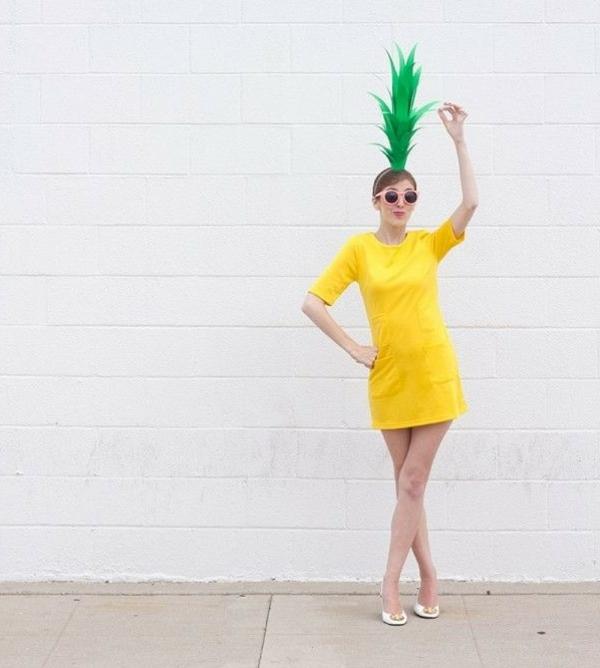 selbstgemachte-kostüme-Ananas