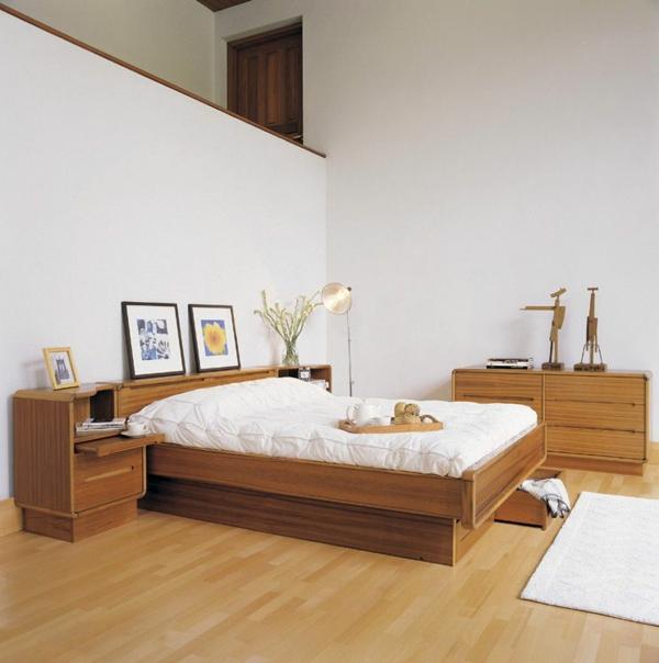 skandinavische-betten-super-schöne-schlafzimmer-gestaltung-wände in weiß
