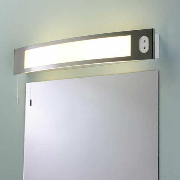 spiegelleuchten im badezimmer-schlicht und schön erscheinen