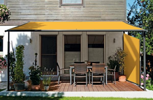 pergola markise zum sonnenschutz 23 beispiele. Black Bedroom Furniture Sets. Home Design Ideas
