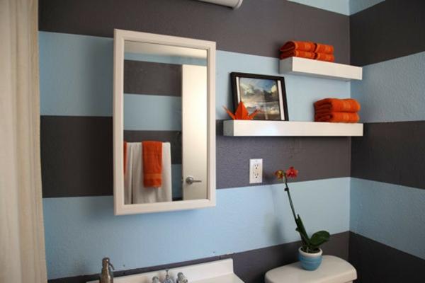 Kinderzimmer Kinderzimmer Braun Blau Streifenvorschlge Gestreifte Wnde Oder  Streifentapete In   Kinderzimmer Wandgestaltung In Braun