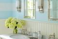 Streifenvorschläge: gestreifte Wände oder Streifentapete in Blau