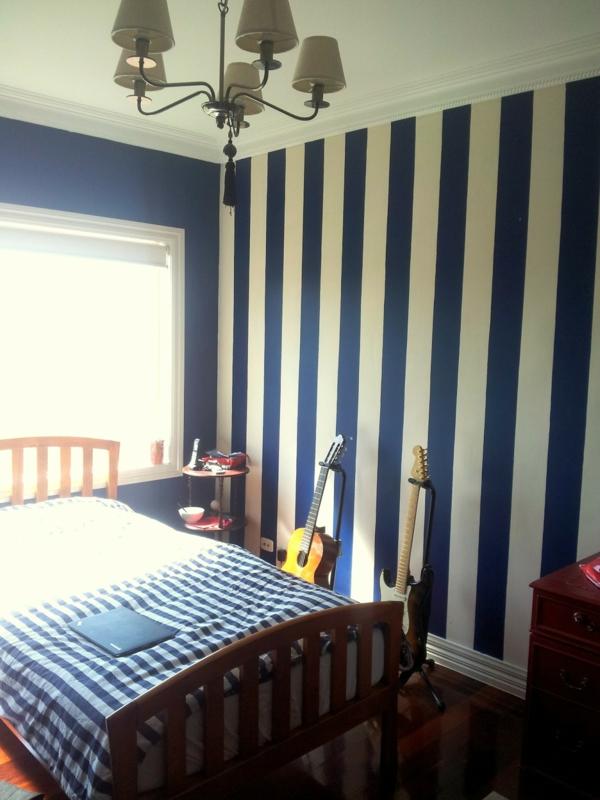 Streifenvorschläge gestreifte wände oder streifentapete