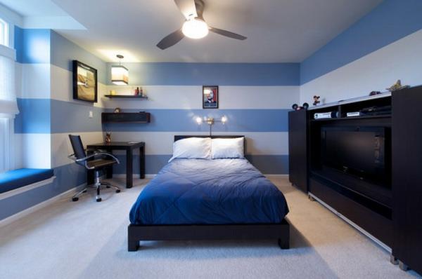 streifenvorschl ge gestreifte w nde oder streifentapete in blau. Black Bedroom Furniture Sets. Home Design Ideas