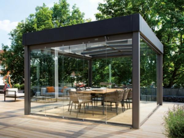 super-cooles-modernes-glashaus-interessantes esszimmer ausstatten
