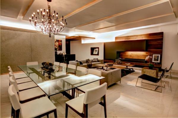 super-kreative-beleuchtungsideen-für-wohnzimmer-eleganter kronleuchter