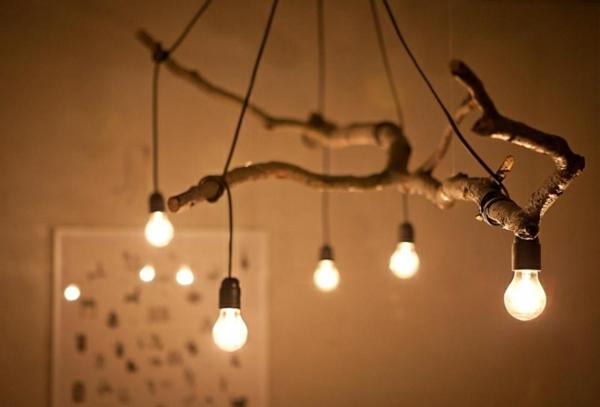 holz lampe rustikal home office naturlook holz schreibtisch