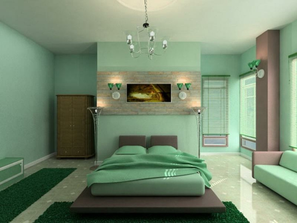 Wandfarbe mintgr n menthol frische im sommer for Light pink and mint green bedroom