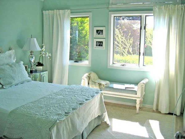 Wandfarbe Schlafzimmer Mint