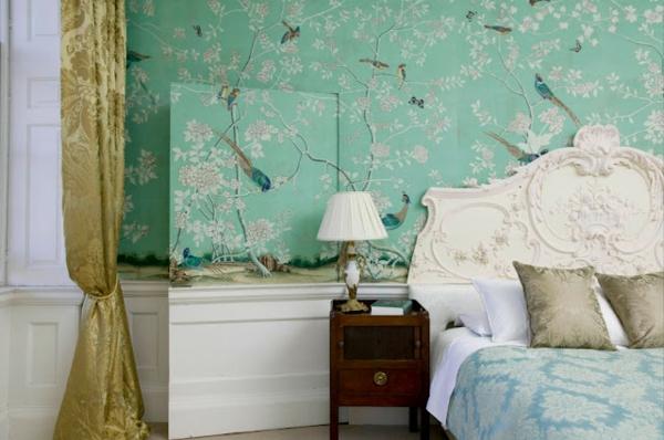 wandfarbe-mintgrün-Wallpaper