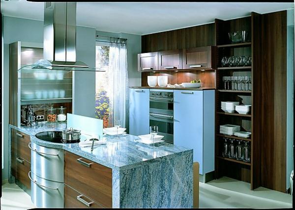 wandfarbe-taubenblau-hell-küche
