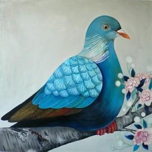 Wandfarbe Taubenblau - mit der Bescheidenheit der Tauben spielen!