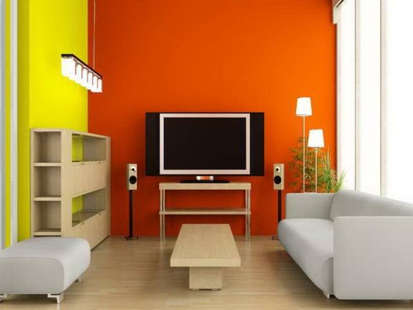design : wohnzimmer rot gelb ~ inspirierende bilder von wohnzimmer ... - Wohnzimmer Orange Rot