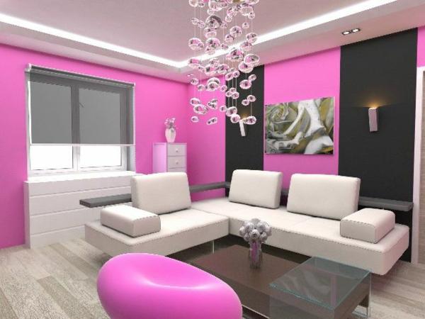 design : wohnzimmer rosa grau ~ inspirierende bilder von ... - Rosa Wandfarbe Wohnzimmer