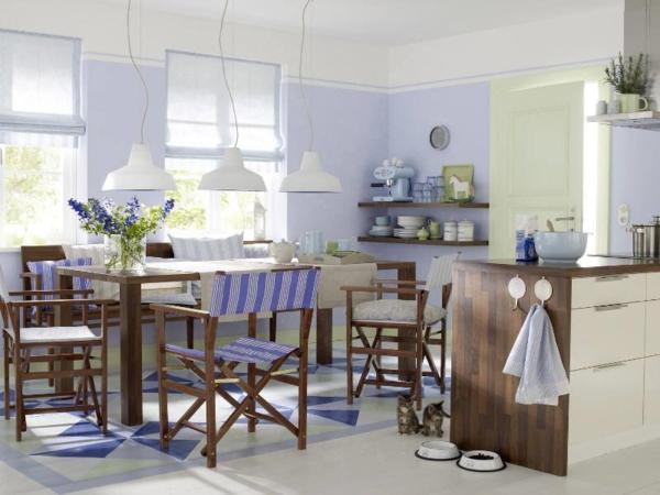 wandgestaltung-kuche-in-lila-und-hellgelbe-farben