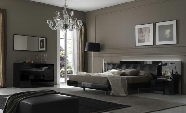 Wandgestaltung Schalfzimmer Graue Farbe